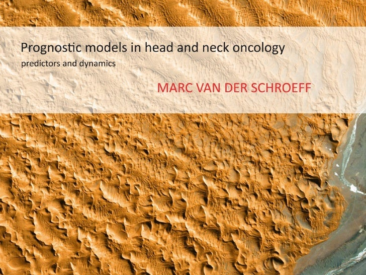 Prognostic models in head and neck oncology