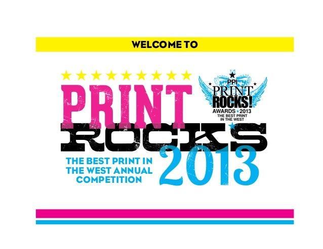 PPI Association 2013 PrintROCKS! Winners