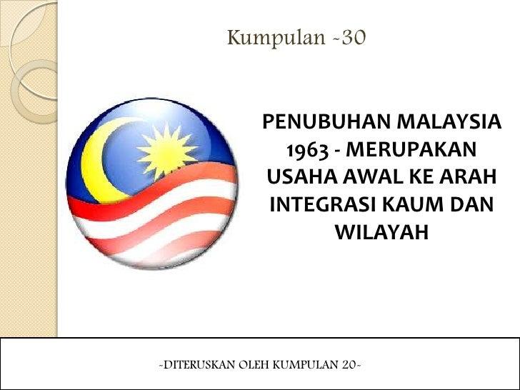 penubuhan malaysia 1963