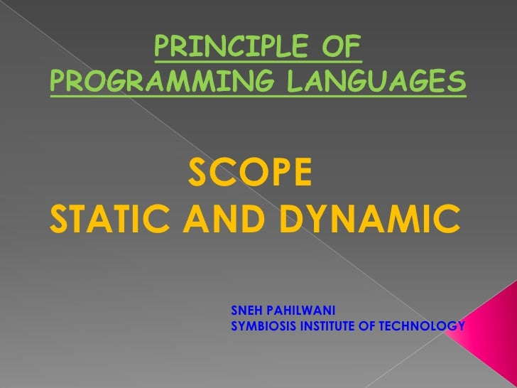 Scope - Static and Dynamic