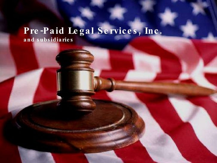 South Western  Pre-Paid Legal Services, Inc. Presentation