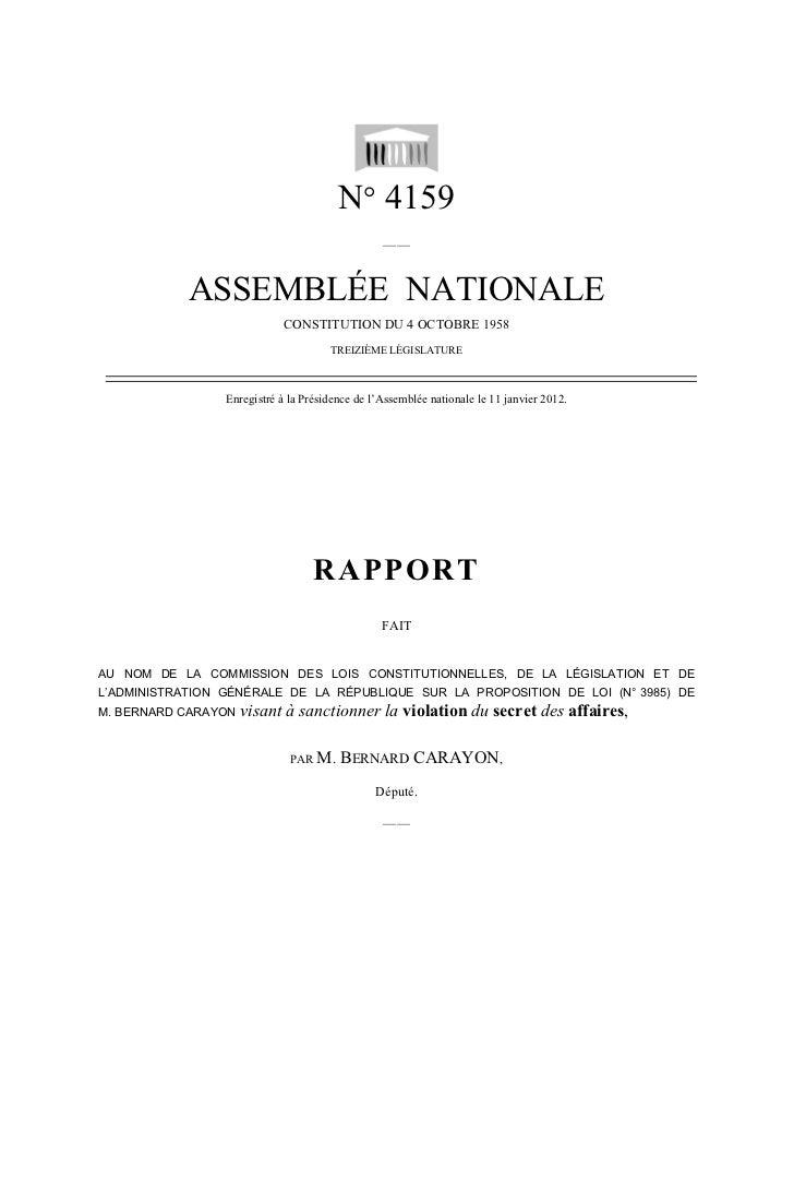 N° 4159                                                 ——            ASSEMBLÉE NATIONALE                             CONS...