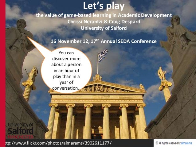 Let's play, game-based learning in Academic Development, SEDA Conference workshop