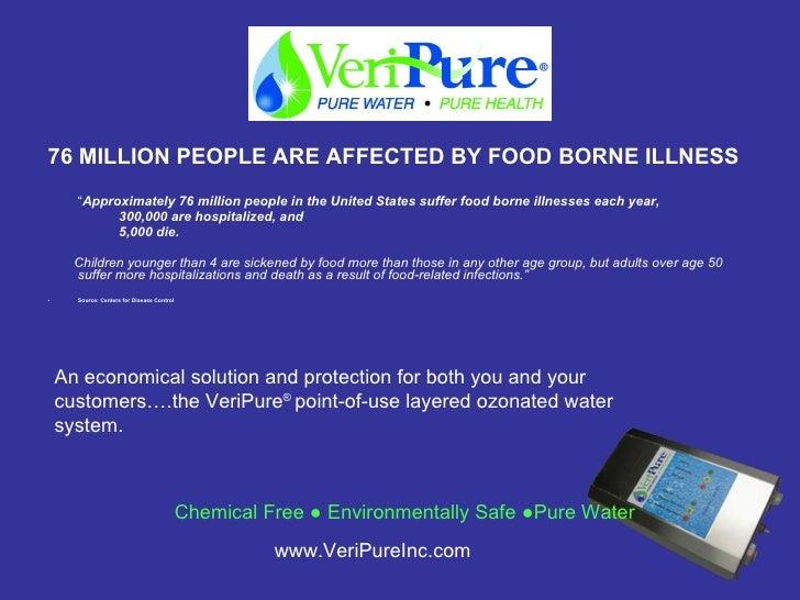 "<ul><li>76 MILLION PEOPLE ARE AFFECTED BY FOOD BORNE ILLNESS </li></ul><ul><li>"" Approximately 76 million people in the Un..."