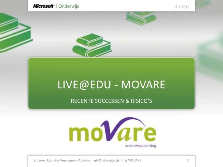 PRESENTATIE MOVARE over live@edu ipon 2011
