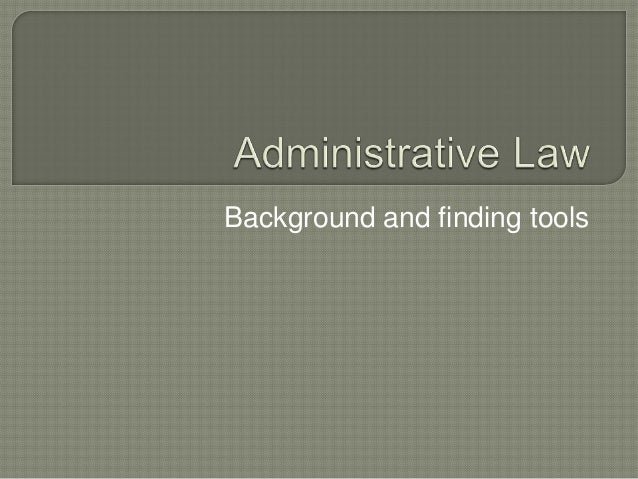 PPLR - Administrative Law