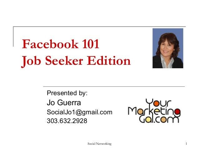 Facebook 101 - Job Seeker Edition