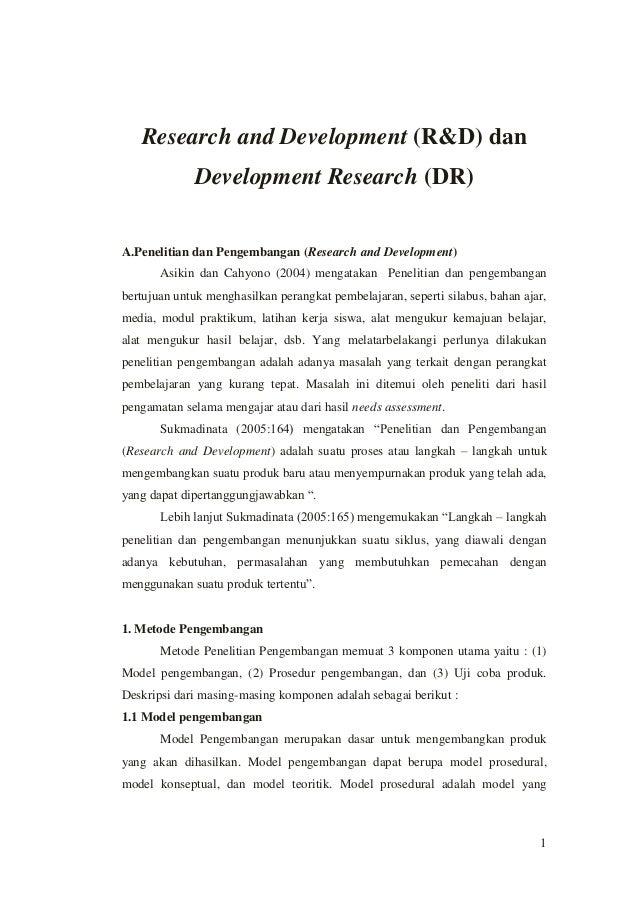 Perbedaan Research & Development (R&D) dan Development Research (DR)