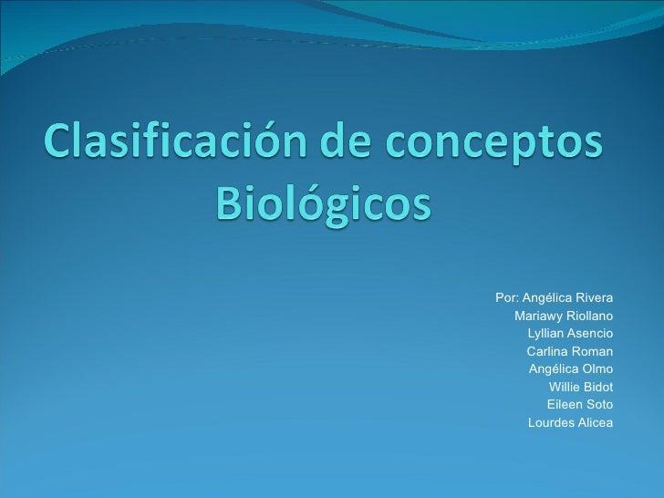 Clasificación de Conceptos Biológicos