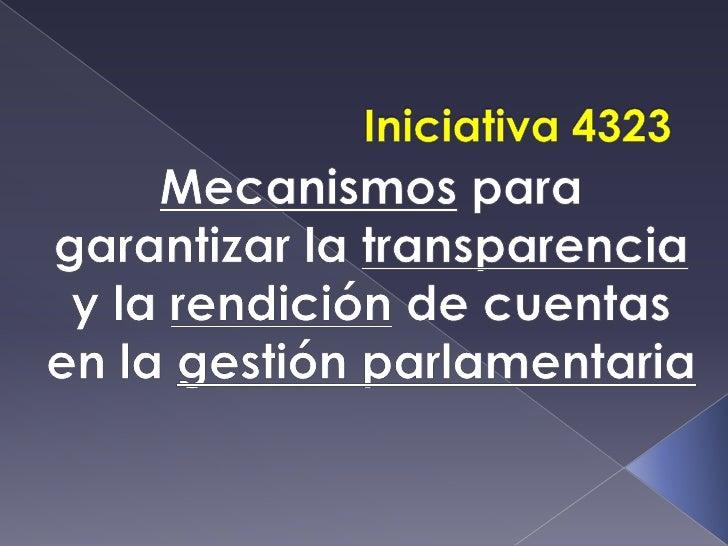 Iniciativa 4323
