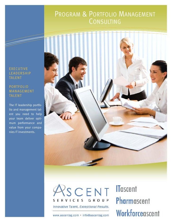 ASG - Program & Portfolio Management Consulting