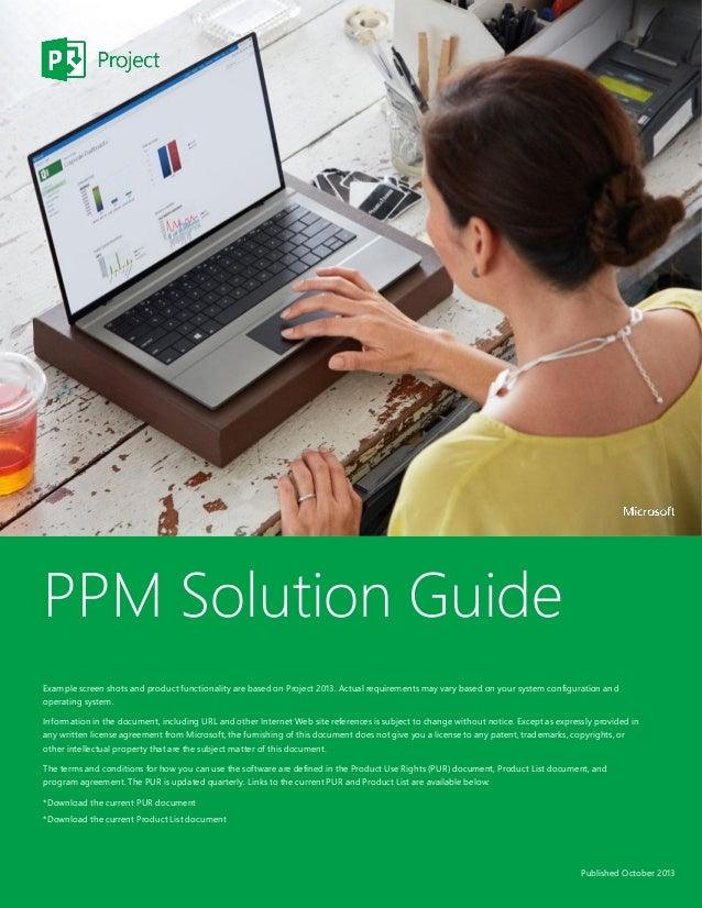 Microsoft Project Portfolio Management Solution Guide - From atidan