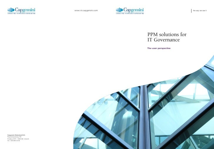 the way we see itPPM solutions forIT GovernanceThe user perspective