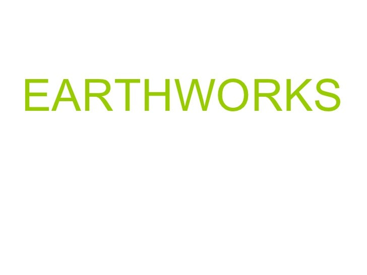 Pp of earthworks