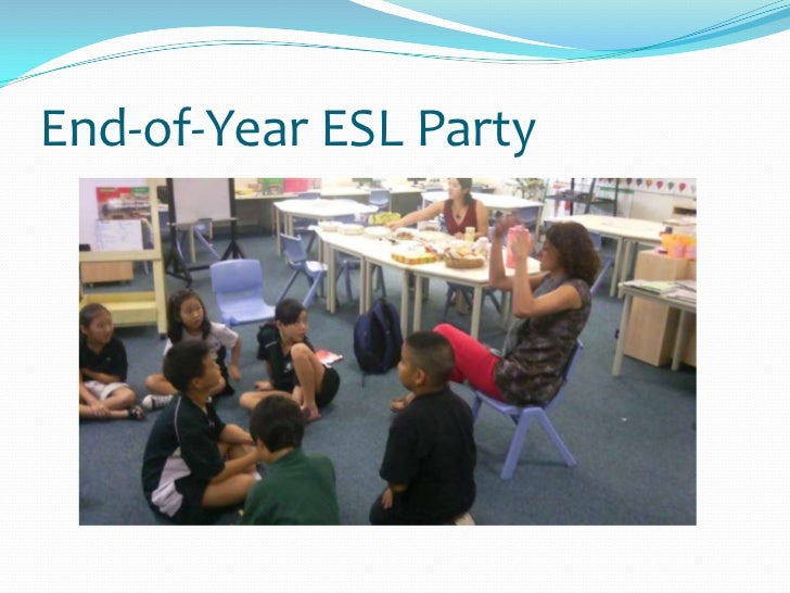 End-of-Year ESL Party<br />