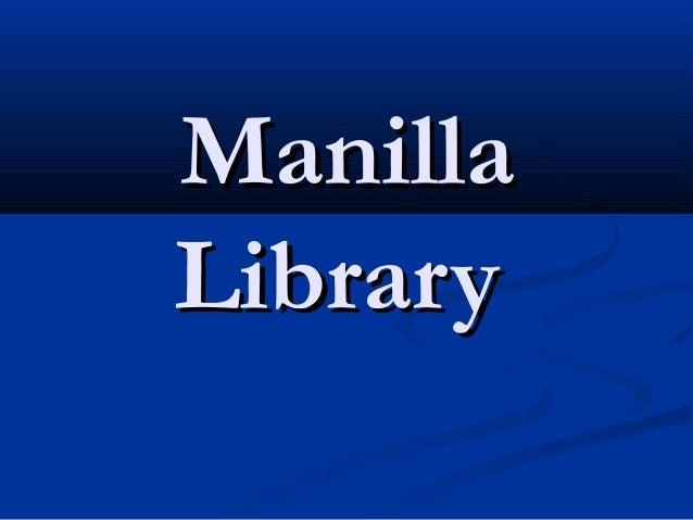 Manilla Library