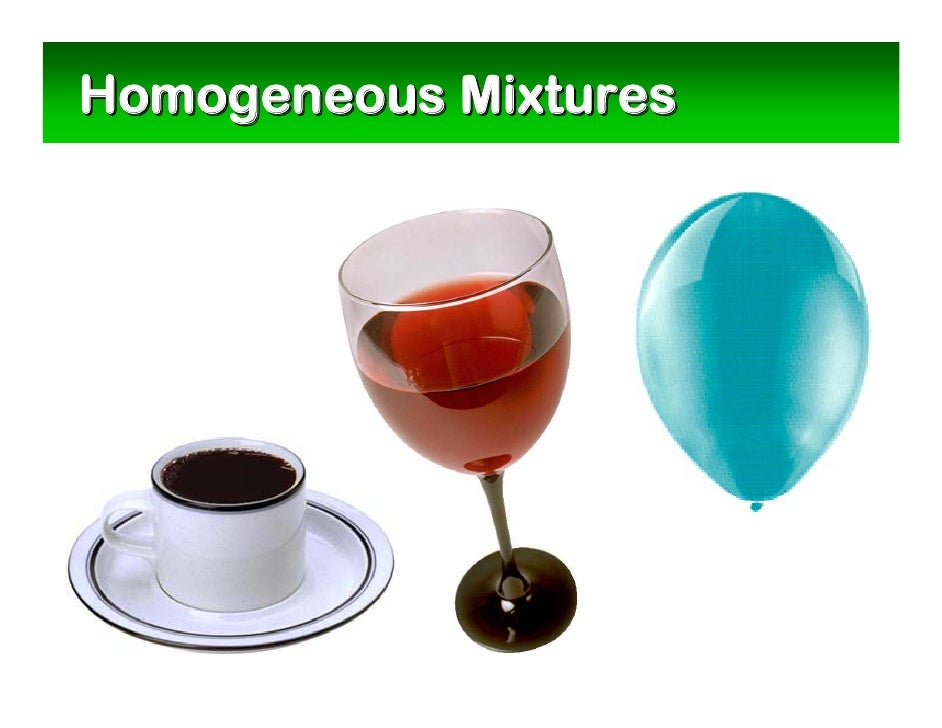 Example of Homogeneous Mixture images