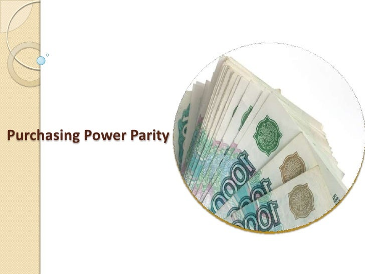 Purchasing power parity is a way of equalizing economic differences ...