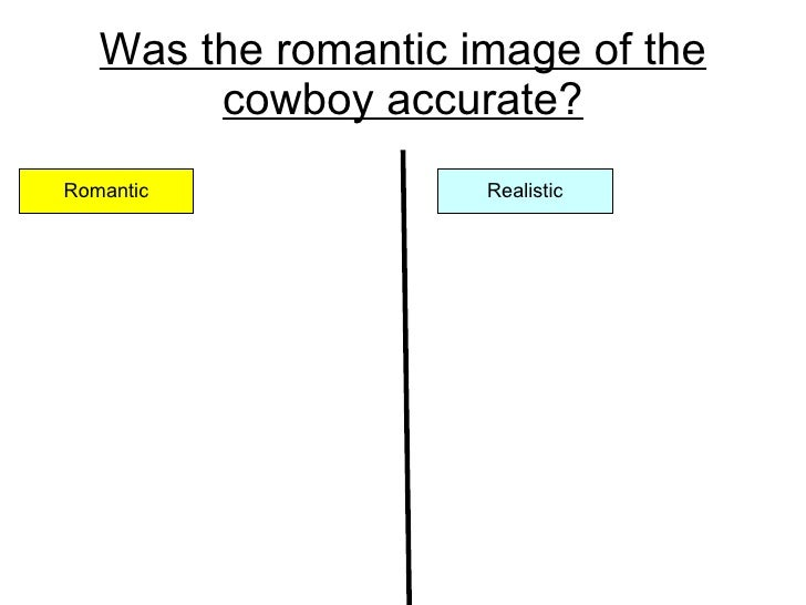 Was the romantic image of the cowboy accurate? Romantic Realistic