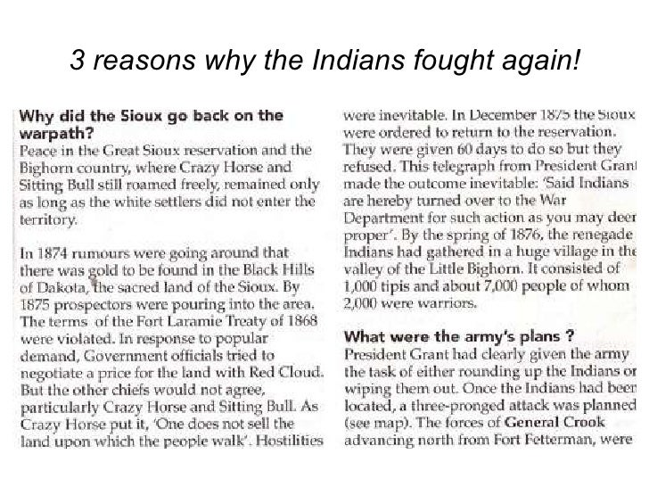 3 reasons why the Indians fought again!