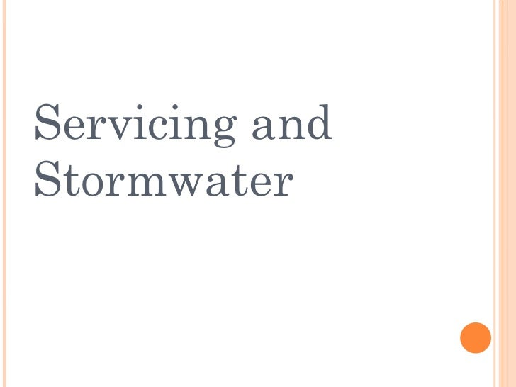 Servicing and Stormwater