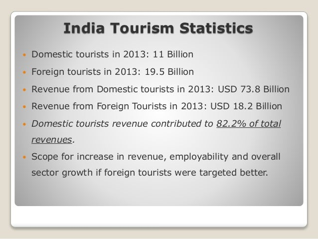 domestic tourism in india India's domestic tourism sector is booming, with the country witnessing a double-digit jump in domestic trips during 2016 according to the latest data from india.