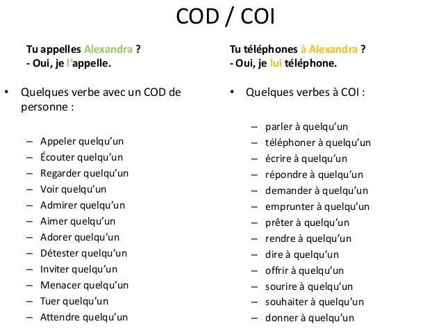 exemple de c o d