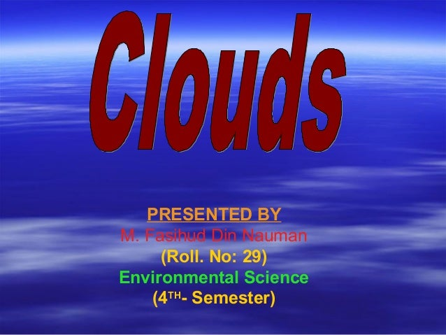 Ppp on clouds and their classification