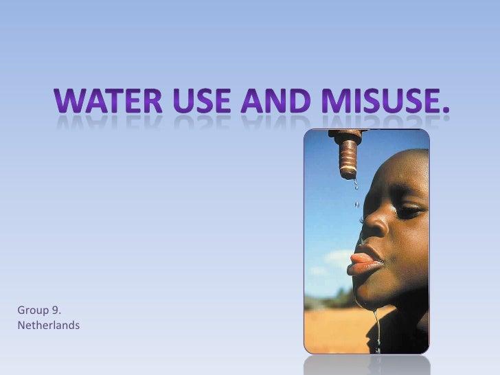 Pp Presentatie Eva Visscher 2 H1 Watergebruik