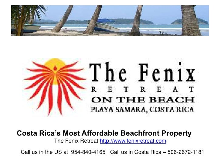 The Fenix Retreat, Frctional Ownership in Costa Rica