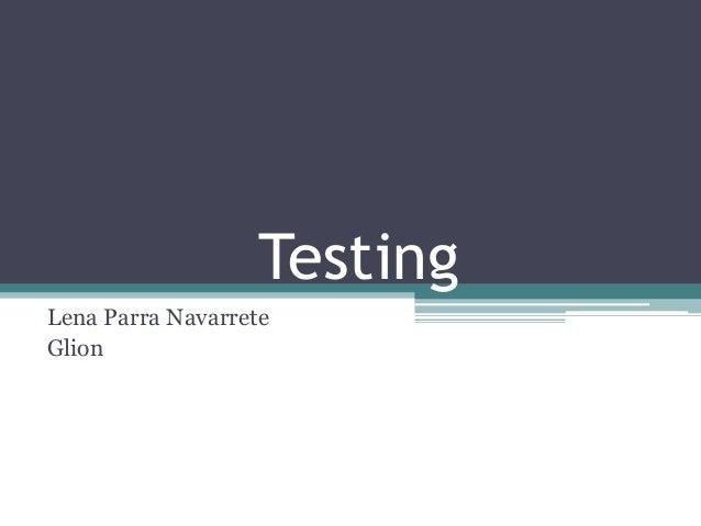 Testing Lena Parra Navarrete Glion