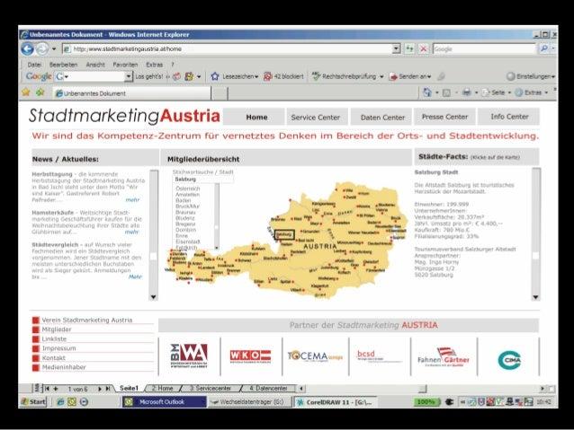 Stadtmarketing Website Neu
