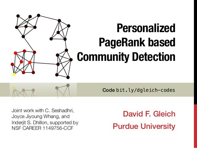 Personalized PageRank based community detection