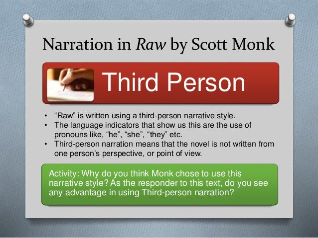 raw by scott monk thematic essay essay Monk, scott, 1974- raw monk, scott, 1974- -- study and teaching monk, scott, 1974- raw skip to content skip to search national library of.