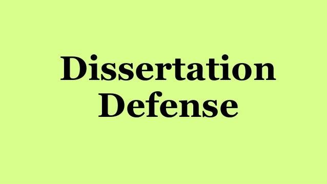 How to do a dissertation defense