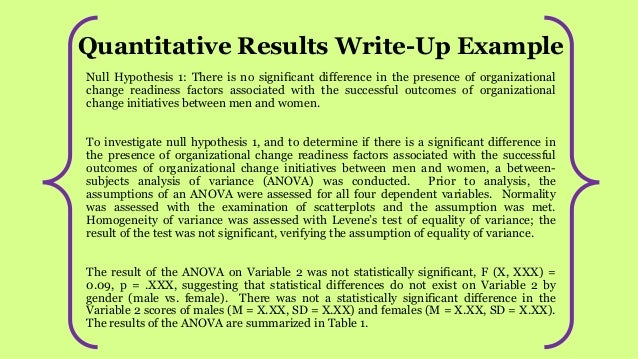 Dissertation Write Up Results