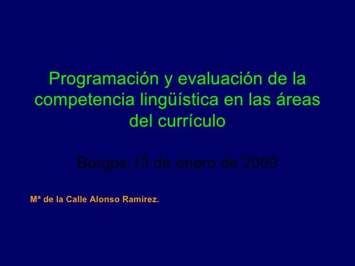 Programación y evaluación de la competencia lingúística