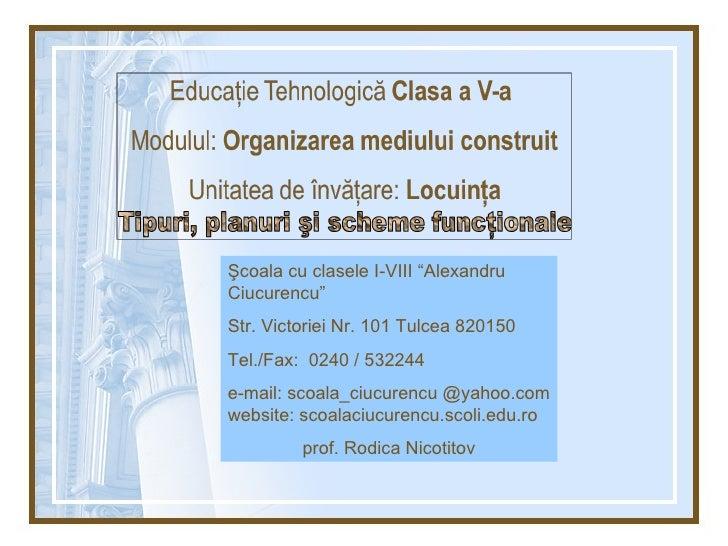 """Şcoala cu clasele I-VIII """"Alexandru Ciucurencu"""" Str. Victoriei Nr. 101 Tulcea 820150 Tel./Fax:  0240 / 532244 e-mail: scoa..."""