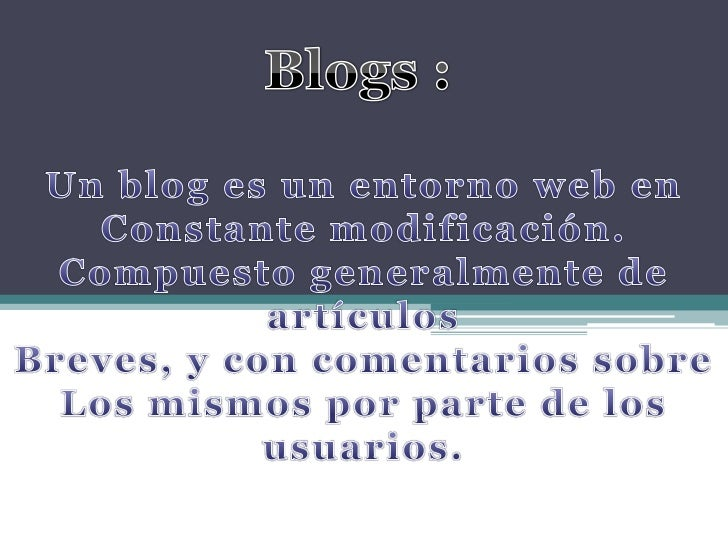 Estructura de un Blog      •   Cabecera      •   Menú horizontal      •   Menú lateral      •   Zona central      •   Arti...