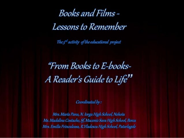 Books and Films - Lessons for Life (An Acting Contest for Students)