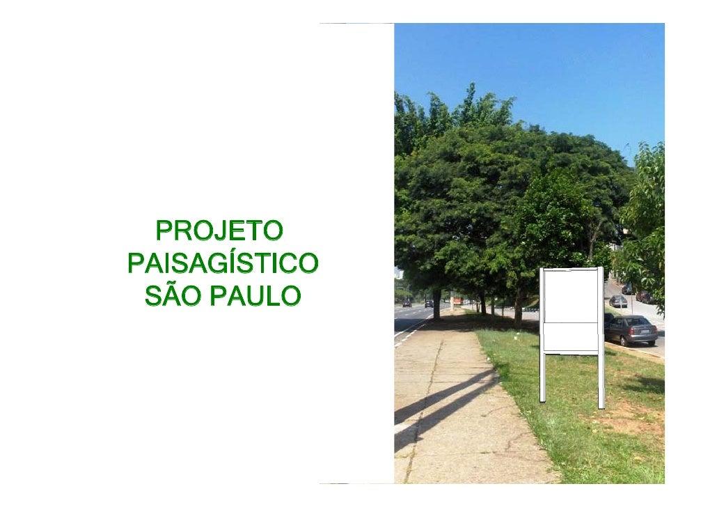 PROJETO PAISAGÍSTICO  SÃO PAULO