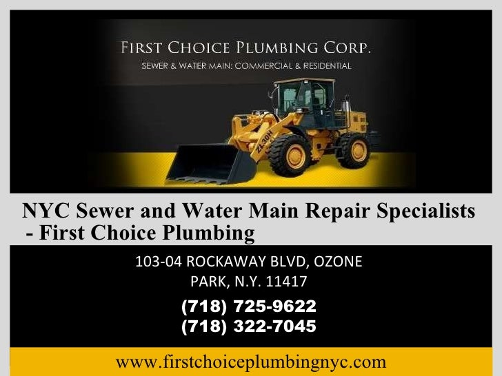 NYC Sewer and Water Main Repair Specialists - First Choice Plumbing
