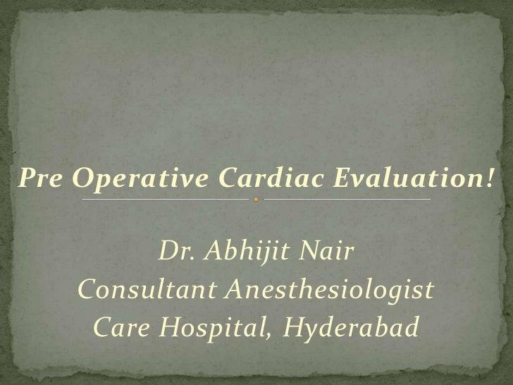 Cardiac Evaluation Ppt!