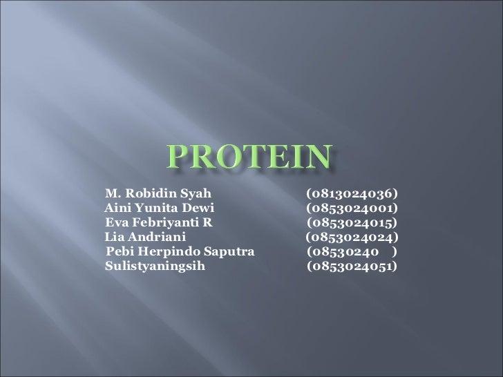 M. Robidin Syah  (0813024036) Aini Yunita Dewi  (0853024001) Eva Febriyanti R  (0853024015) Lia Andriani  (0853024024) Peb...