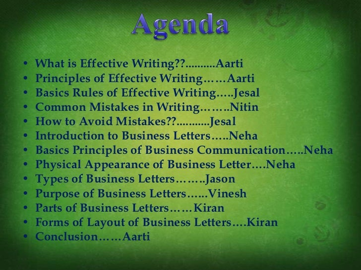 Ppt Of Basics Of Effective Writing Business Letter