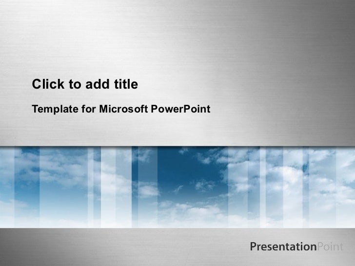 Click to add titleTemplate for Microsoft PowerPoint