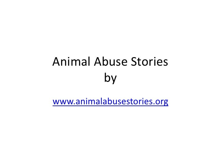 Animal Abuse Stories
