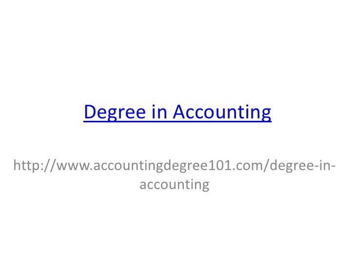 Degree in Accounting