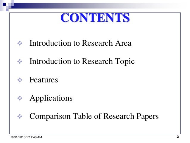 research paper introduction content