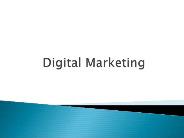 Learning Outcomes  the impact of digital resources on marketing,   the key structural characteristics & differences betw...